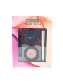 BareMinerals Fabulous Four Full Size Makeup Essentials Set (1x Mineral Veil Finishing Powder, 1x Blush, 1x Lipstick, 1x Mascara)