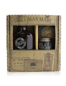 18.21 Man Made Man Made Wash And Balm Set - Spiced Vanilla: 1x Shampoo, Conditioner And Body Wash 530ml + 1x Beard Balm 56.7g