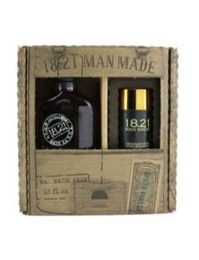 18.21 Man Made Man Made Wash And Deodorant Set - Spiced Vanilla: 1x Shampoo, Conditioner And Body Wash 530ml + 1x Deodorant Stick 75g