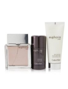 Calvin Klein Euphoria Men Coffret: Eau De Toilette Spray + Deodorant Stick + After Shave Balm