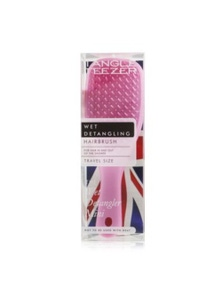 Tangle Teezer The Wet Detangling Mini Hair Brush- Baby Pink Sparkle (Travel Size)