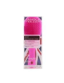 Tangle Teezer The Wet Detangling Mini Hair Brush- Pink Sherbert (Travel Size)