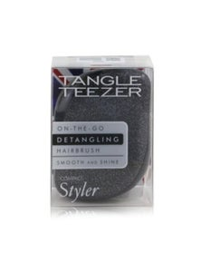 Tangle Teezer Compact Styler On-The-Go Detangling Hair Brush- Onyx Sparkle