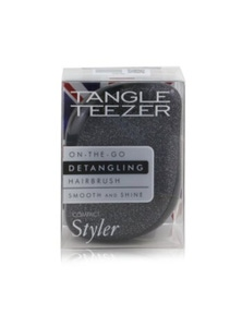 Tangle Teezer Compact Styler On-The-Go Detangling Hair Brush- Onyx Sparkle