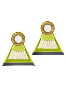Full Circle Tiny Team Mini Brush & Dustpan Set - Green 2X