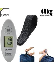 Lewis N. Clark Hand Held Digital Luggage Scales Portable Travel Weighing - Grey