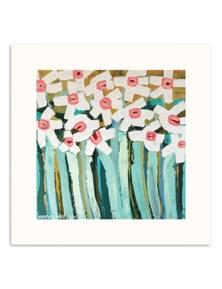 Anna Blatman - White Daisies Paper Art
