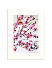 Anna Blatman - Pink Magnolia Paper Art