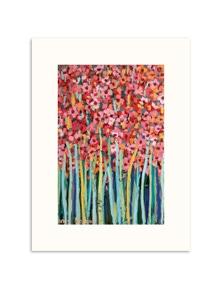 Anna Blatman - Pink Jonquils Paper Art