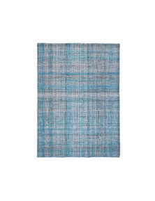 Mini Turquoise Wool Rug 38x38cm