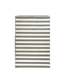 Botticelli Stripe Grey White Rug 75x140cm