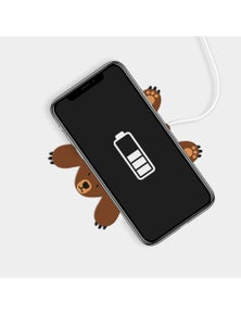 Mustard- Pete The Bear Wireless Phone Charger