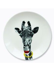Mustard- Wild Dining- Gina Giraffe Ceramic Dinner Plate