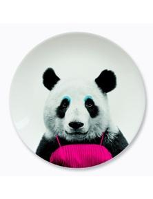 Mustard- Wild Dining- Patricia Panda Ceramic Dinner Plate