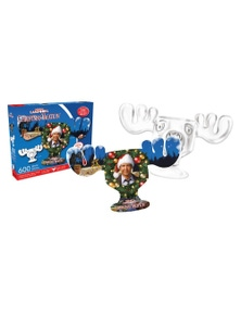 Christmas Vacation- Moose Mug Collage 600pc Double-Sided Puzzle