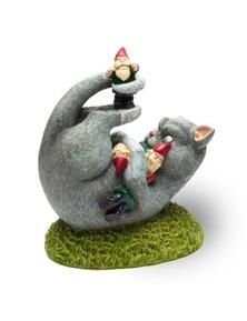 BigMouth Cat Garden Gnome