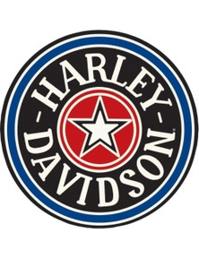 Harley Davidson Fat Boy Gas Cap Round Die Cut Embossed Tin Sign