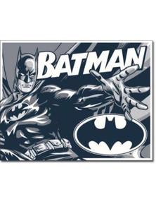 Batman Retro Tin Sign (Black White & Grey)