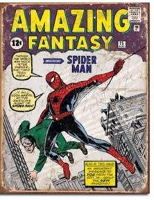 Spiderman Comic Retro Tin Sign