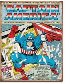 Captain America Comic Retro Tin Sign