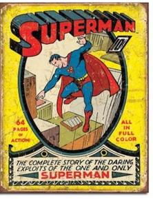 Superman Comic Retro Tin Sign