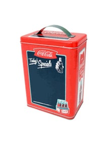 Coke- Tall Chalkboard Surface Rectangle tin with handle