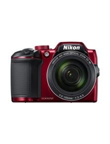 Nikon B500 COOLPIX Digital Compact Camera 16MP 40x Zoom (Red)