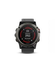 Garmin Fenix 5X GPS Watch Sapphire Slate Grey w/ Black Band