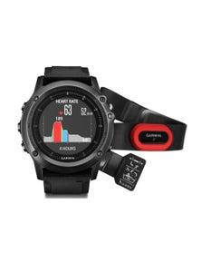 Garmin Fenix 3 HR Grey Sapphire GPS Watch + HRM4-Run Bundle