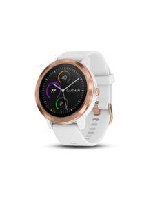 Garmin Vivoactive 3 GPS Smartwatch White w/ Rose Gold
