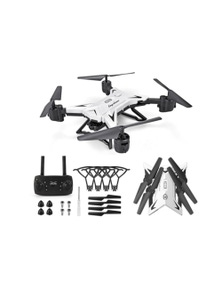 KY601S RC Drone Foldable Quadcopter w/ WiFi FPV 1080P HD Camera White