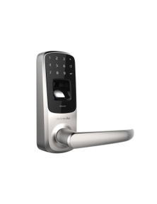 Ultraloq UL3 BT Bluetooth Fingerprint Touch Smart Lever Lock Satin