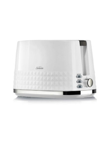 Sunbeam Diamond Collection 2 Slice Toaster White TA1900W