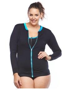 Curvy Chic Sports Rashie Top - Long Sleeve