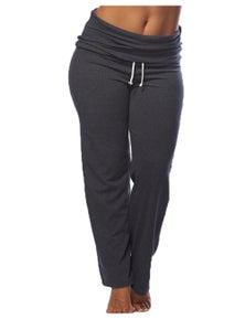 Curvy Chic Sports Fold Down Yoga Pants - Tall