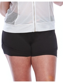 Curvy Chic Sports Smile Lite n Layer Shorts