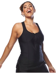 Curvy Chic Sports Racer Back Tankini