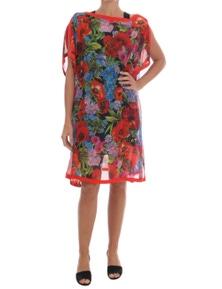 Dolce & Gabbana Multicolour Floral Silk Poncho Dress