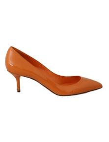 Dolce & Gabbana Orange Patent Leather Heels Pumps