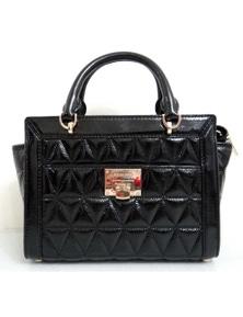 Michael Kors Vivianne Small Patent Leather Satchel Messenger Bag