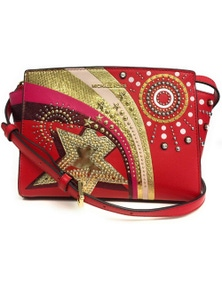 Michael Kors Selma Medium Firework Bright Red Messenger Bag