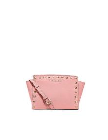 Michael Kors Selma Medium Studded Saffiano Leather Messenger bag