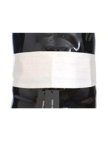 Dolce & Gabbana White Smoking Belt Silk Cummerbund