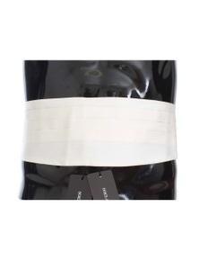Dolce & Gabbana White Wide Belt Silk Cummerbund