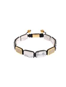 Nialaya CZ Howlite Gold 925 Bracelet