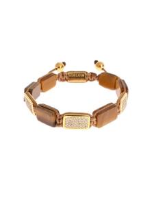 Nialaya CZ Tiger Eye Gold 925 Bracelet
