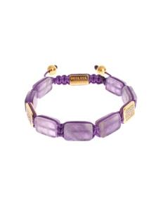 Nialaya CZ Amethyst 18K Gold 925 Bracelet
