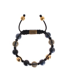 Nialaya Blue CZ Coral Gold 925 Bracelet