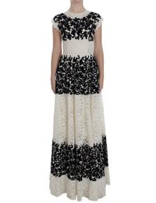 Dolce & Gabbana Floral Lace Ricamo Long Ball Maxi Dress