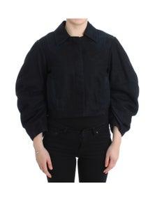 GF Ferre Blue Denim Jacket Coat Blazer Short 2 in 1